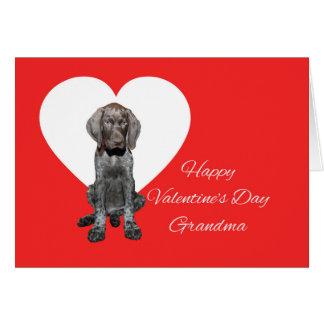 祖母の光沢のあるハイイログマのバレンタインの初恋 カード