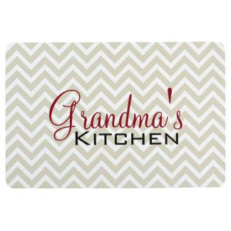 祖母の台所シェブロンのストライプなパターン フロアマット
