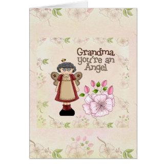 祖母の天使カード グリーティングカード