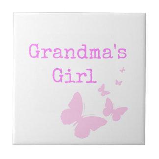 祖母の女の子 タイル