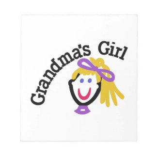 祖母の女の子 ノートパッド
