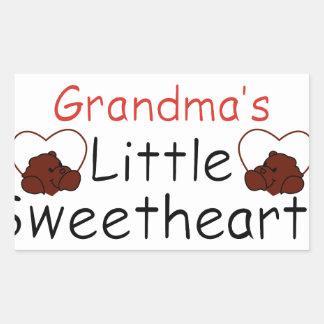 祖母の小さい恋人 長方形シール