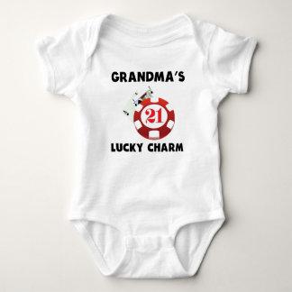 祖母の幸運なチャームのブラックジャック ベビーボディスーツ