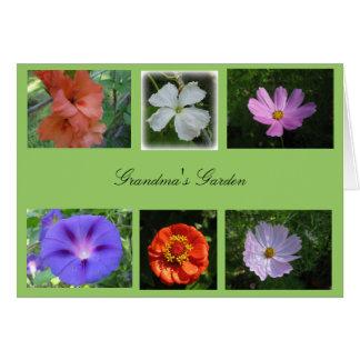 祖母の庭カード グリーティングカード