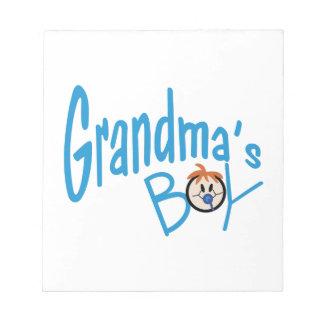 祖母の男の子 ノートパッド