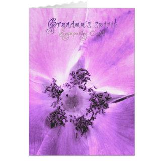 祖母の精神、悔やみや弔慰カード カード