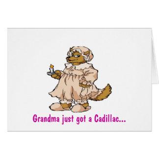 祖母の衣類のオオカミ グリーティングカード
