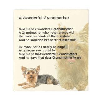 祖母の詩-ヨークシャテリア ノートパッド