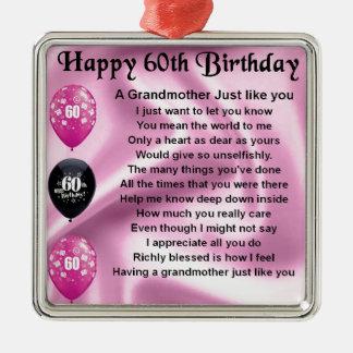 祖母の詩-第60誕生日 メタルオーナメント