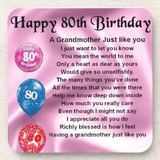 祖母の詩-第80誕生日 コースター