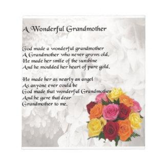 祖母の詩-花 ノートパッド