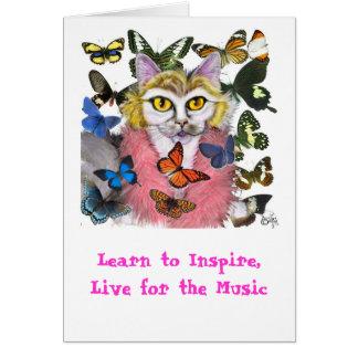 祖母のPurrleの蝶知恵カード グリーティングカード