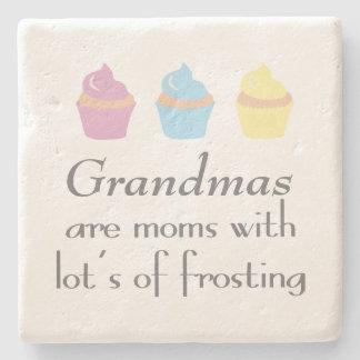 祖母はつや消しの多くを持つお母さんです ストーンコースター