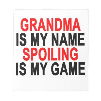 祖母は一流にだめになることですゲームです; .png ノートパッド