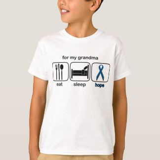 祖母は睡眠の希望-結腸癌--を食べます Tシャツ