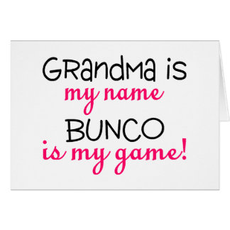祖母は私の一流のBuncoです私のゲームです カード