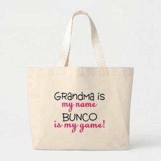祖母は私の一流のBuncoです私のゲームです ラージトートバッグ