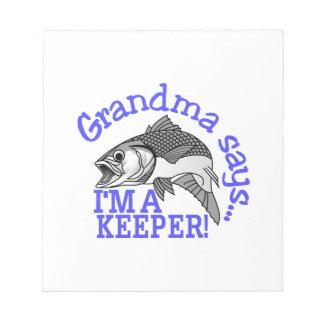 祖母は言います ノートパッド