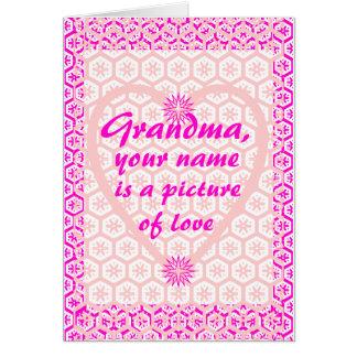 祖母は、あなたの名前愛の写真です グリーティングカード