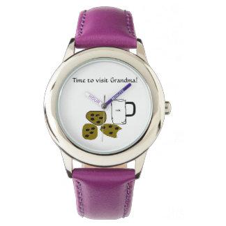 祖母を訪問する時間! 子供の腕時計 腕時計