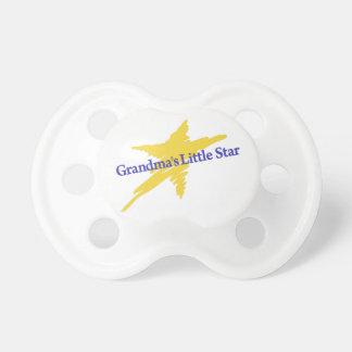 祖母少し星 おしゃぶり