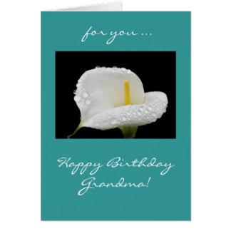 祖母: 誕生日ユリ グリーティングカード