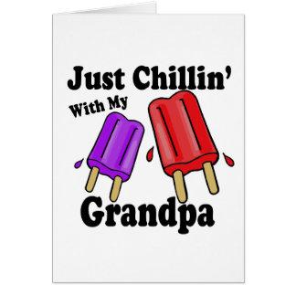 祖父とのChillin カード
