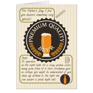 祖父のためのおもしろいな父の日レトロビールラベル グリーティングカード
