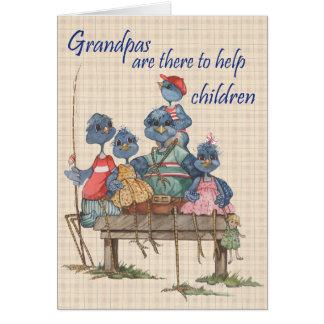 祖父の助け-挨拶状 カード
