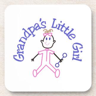 祖父の小さな女の子 コースター