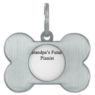 祖父の未来のピアニスト ペットネームタグ