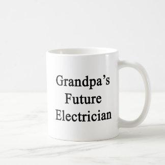 祖父の未来の電気技師 コーヒーマグカップ