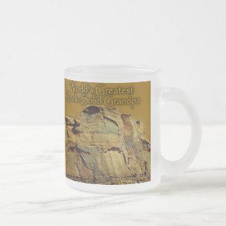 祖父の盤石の金ゴールドビールステイン フロストグラスマグカップ