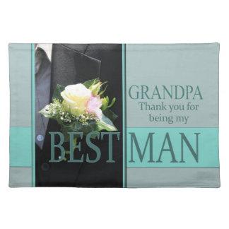 祖父の花婿介添人は感謝していしています ランチョンマット