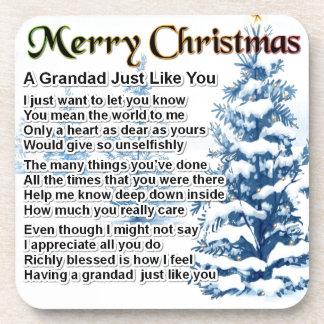 祖父の詩-クリスマスのデザイン コースター