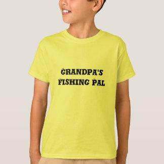 祖父の魚釣りの友達 Tシャツ