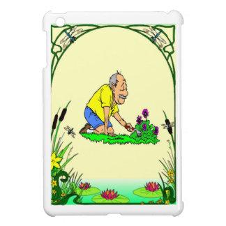 祖父は彼の庭を愛します iPad MINIケース