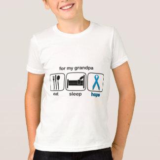 祖父は睡眠の希望-リンパ腫--を食べます Tシャツ