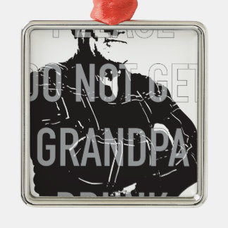 祖父を飲まれる得ないで下さい メタルオーナメント