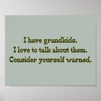 祖父母からの警告 ポスター
