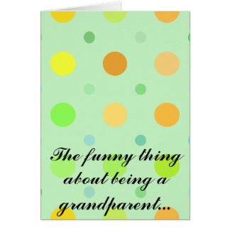 祖父母があることについてのおもしろいな事 カード