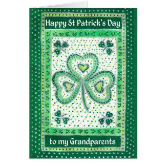 祖父母のためのシャムロックのセントパトリックの日カード カード
