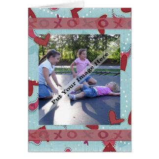 祖父母のためのバレンタインの写真カード カード