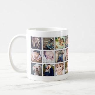 祖父母のための家族のポートレートの写真のコラージュのマグ コーヒーマグカップ