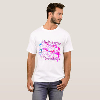 祖父母のためのTシャツ(紫色) Tシャツ