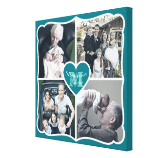 祖父母のバレンタインのInstagramのハートの写真の格子 キャンバスプリント