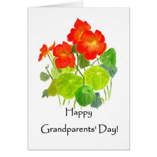 祖父母の日のキンレンカの挨拶状 カード