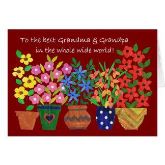 祖父母日カード-フラワーパワー カード