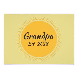 祖父米国東部標準時刻。 2018年の発表カード カード