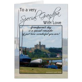 祖父、祖父母日カード- Warkworthの城 カード